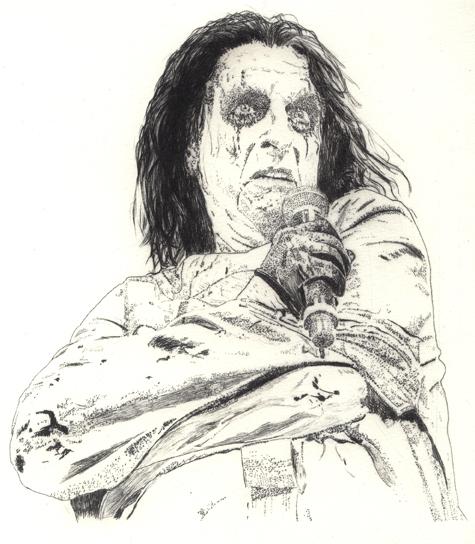 Alice Cooper Radierung