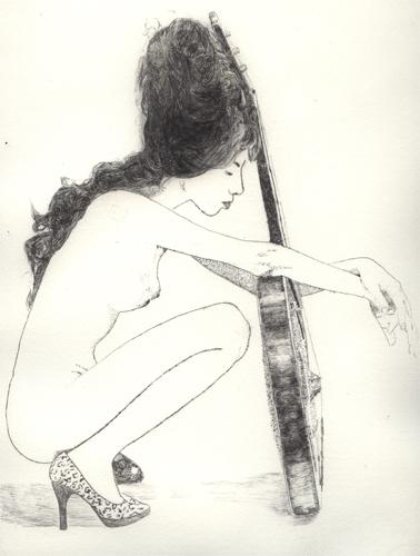 Amy Winehouse Radierung