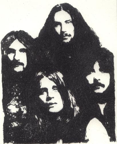 Black Sabbath Radierung
