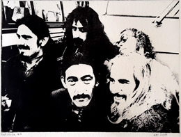 Radierung Photopolymer Lichtradierung Intagliotypie Frank Zappa and the Mothers