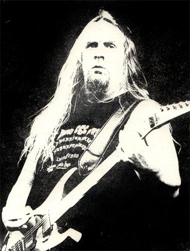 Jeff Hanneman Slayer Intagliotypie Tiefdruck