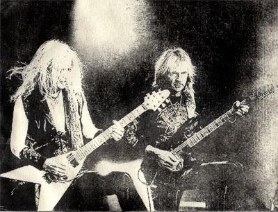 Judas Priest, K.K. Downing, Glenn Tipton Intagliotypie Tiefdruck