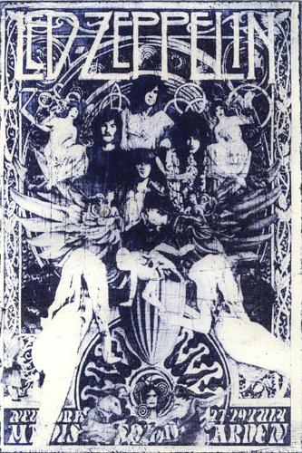 Led Zeppelin Intagliotypie Tiefdruck
