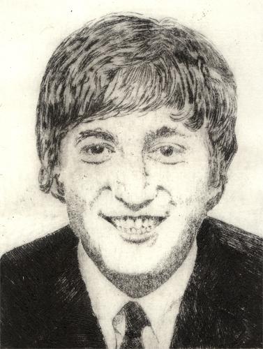 John Lennon Radierung