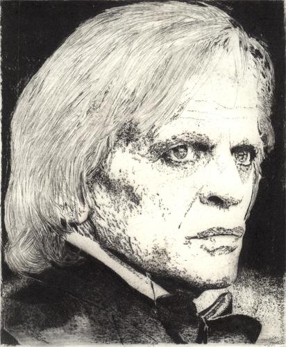 Klaus Kinski Radierung