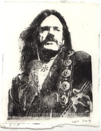 Lemmy Kilmister Kaltnadelradierung