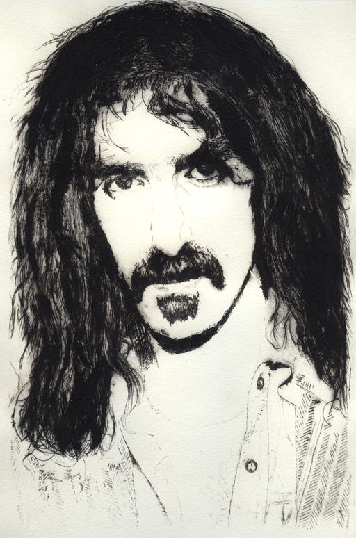 Frank Zappa Radierung