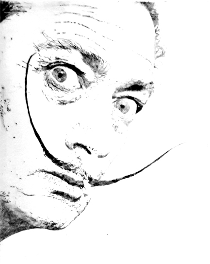 Salvador Dali Radierung